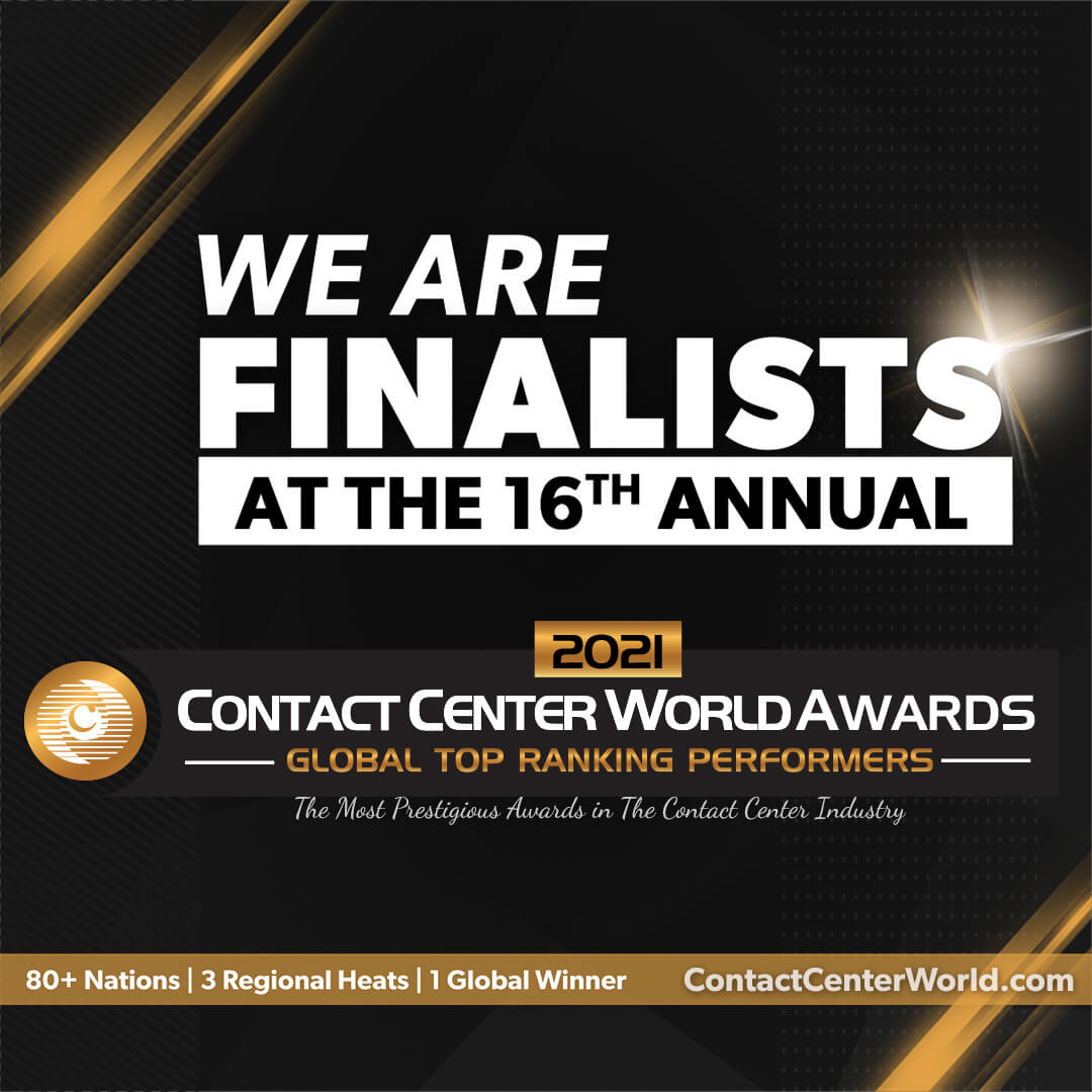 """ONQ has been awarded a Global Finalist in the """"Contact Center World Awards."""""""